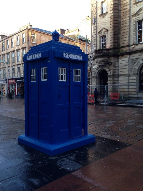 Police box in Glasgow
