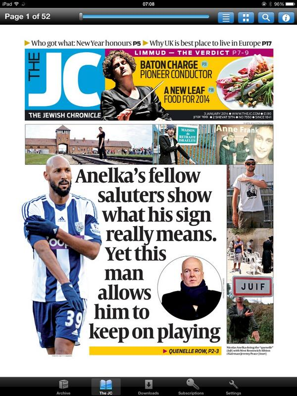 """@stephenpollard: This week's @JewishChron front page. The man, btw, is Jeremy Peace, WBA chairman: http://t.co/DJn0wm8zqk"" @WBAFCofficial"
