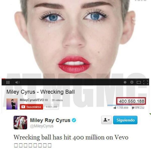 Congrats Miley!:) #thepopqueen