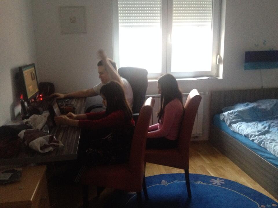 Twitter / HarisAlisic: My kids learning video editing! ...