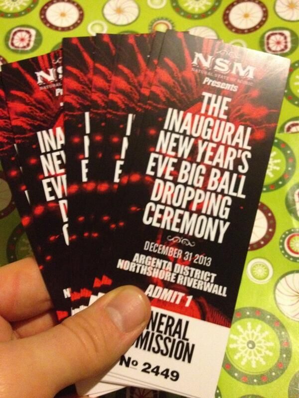 Photo of ticket for New Year's Eve Big Ball Dropping Ceremony