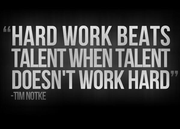 Image result for hard work beats talent quotes