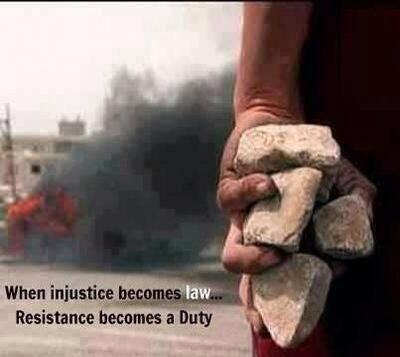 오늘 트위터에서 본 글귀.  불의가 법이 될 때, 저항은 의무가 된다. http://t.co/iHFk6Q9UoA