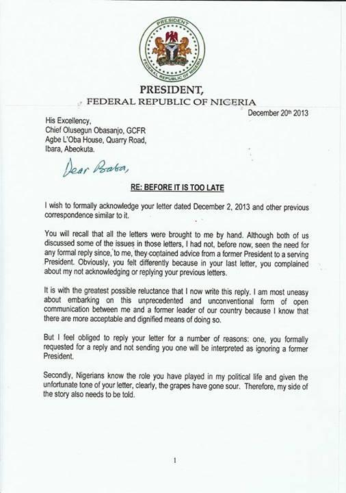 rosanwo on twitter hard copy of letter president goodluck