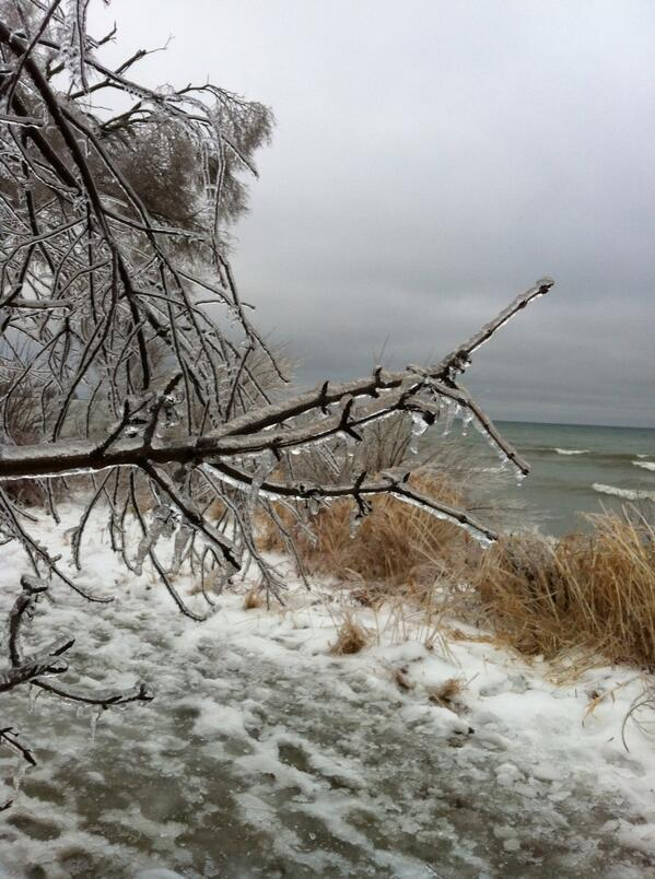 Ice build-up in Ajax near Lake Ontario today. #icestorm2013 #starweather http://t.co/ofXLOSYvPC