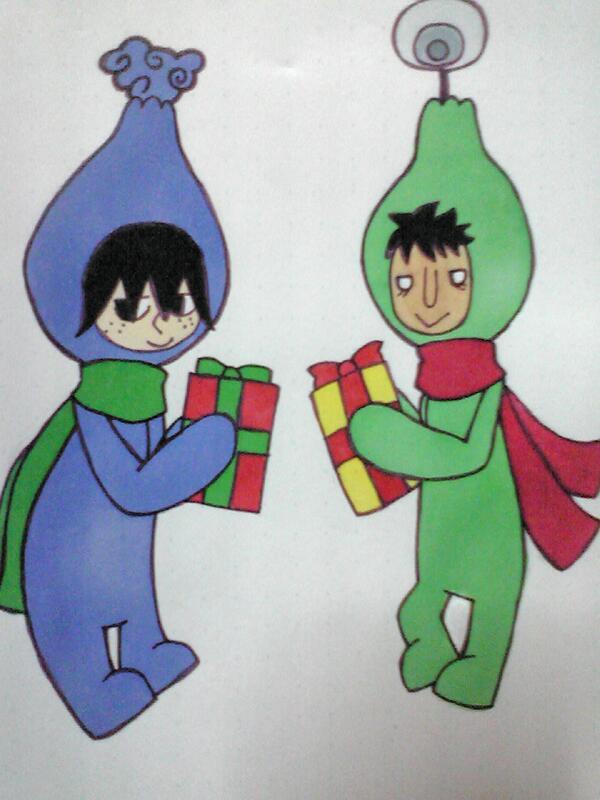 【電波人間のクリスマス:33】ルナシラさんのイラスト