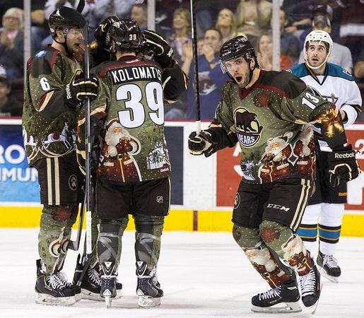 f50545419 RT  PhilHecken  Hershey Bears wore their x-mas sweaters vs. Worcester  Sharks todaypic.twitter.com nh1vVls3IS