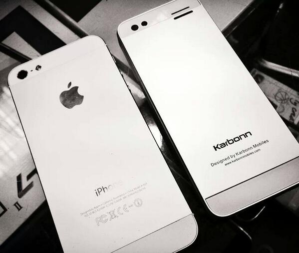 They just made a Karbonn copy of the iPhone http://t.co/vLVzLRyAHo Pic via @krazyfrog