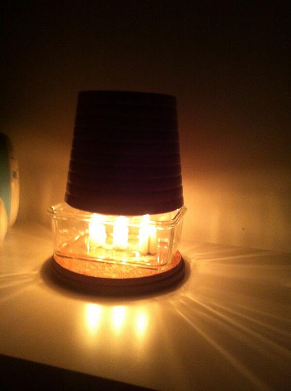 how to make a heater with a candle