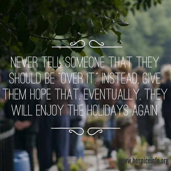 Here's to helping each other tackle the holidays at our own pace. http://t.co/D1OhSPZpc0