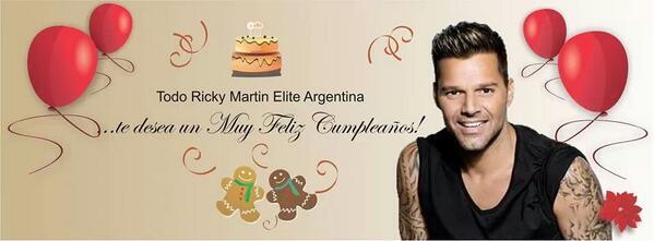 Cumpleanos Feliz Ricky Martin.ট ইট র Ricky Martin Elite Happybirthday Muy Feliz