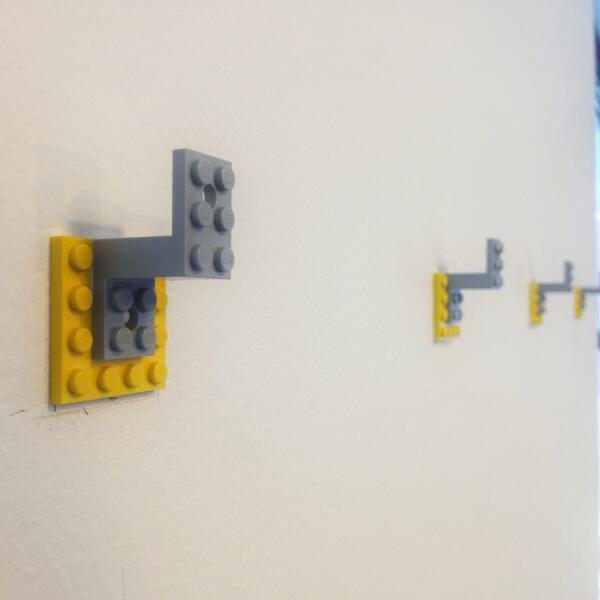 Julien Terraz On Twitter The DigitasLabParis Lego Coat Rack Http Adorable Lego Coat Rack