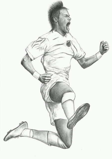 soccer coloring pages neymar skills - photo#29