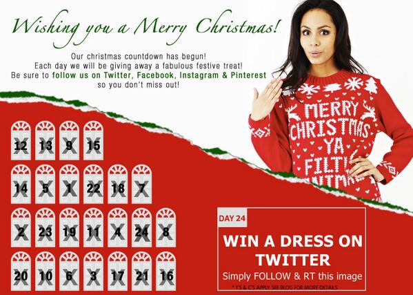 Last & final day of our #Christmas Advent calendar #comp! #WIN a dress simply FOLLOW & RT for ur chance to win. http://t.co/cyi88x27x5