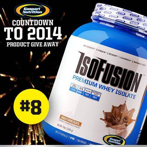 8 days till New Years! We are giving away a new #Gaspari supplement each day. RT to #win http://t.co/VD5jtoCYiU