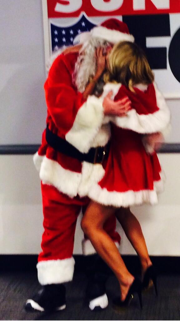 Image result for santa  kissing
