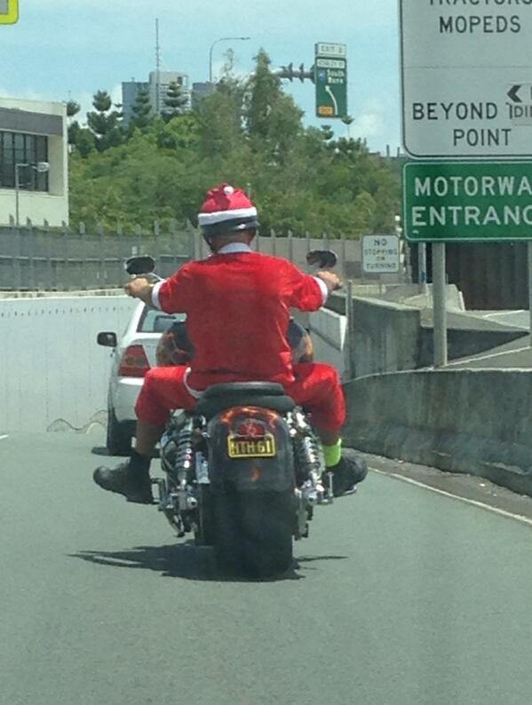 @abcnews Santa is brave to be riding a bike in Brisbane. http://t.co/uB8ZeqKNnT