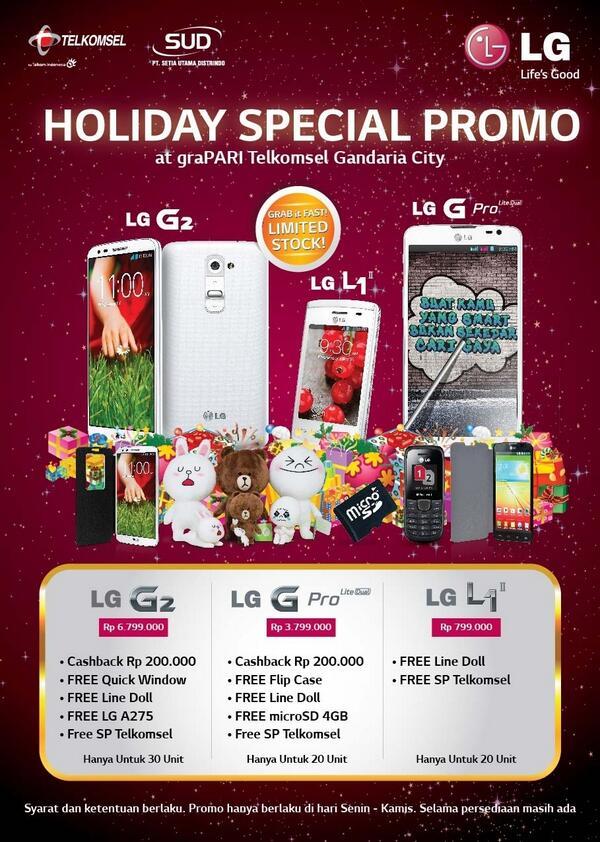 Lg Mobile Indonesia On Twitter Holiday Spesial Promo At Grapari Telkomsel Gandaria City Http T Co Byuzecglkd
