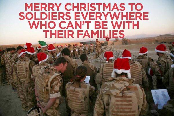 Thinking of our soldiers who can't be home with their families. God bless you one and all~ http://t.co/32DkAdg3Tv