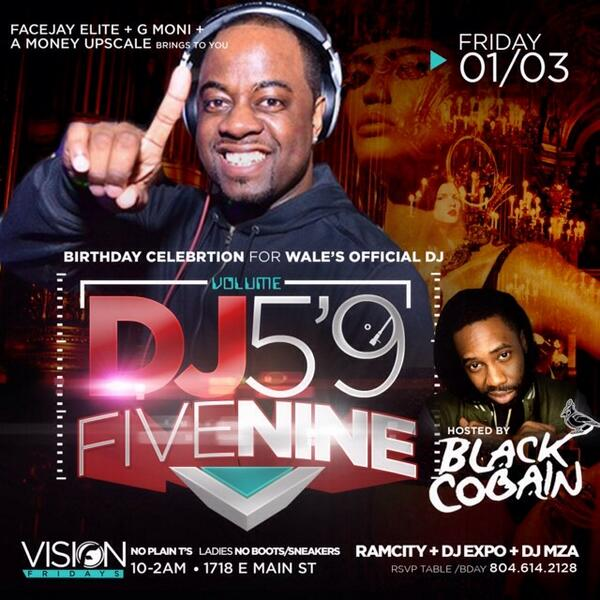 Myself and @BlackCobain will be in RICHMOND,VA [TOMORROW] !!! Slight special Day | Club Visions http://t.co/Nyqk967TJW