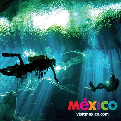 Think you're brave enough to scuba dive in the underground rivers of Quintana Roo? Prove it #LiveItToBelieveIt http://t.co/V035WplUMq