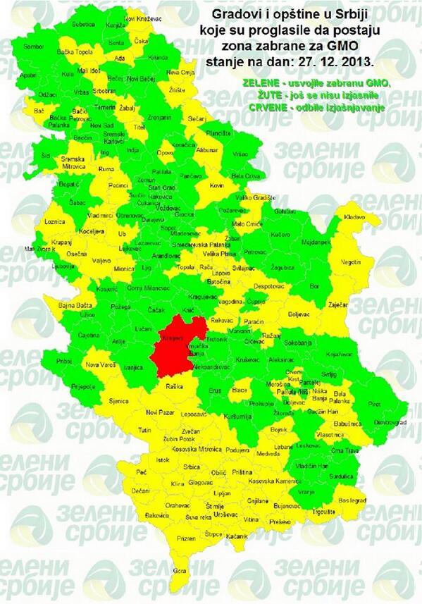 Zeleni Srbije Sur Twitter Najnovija Mapa Gradova I Opstina Koje