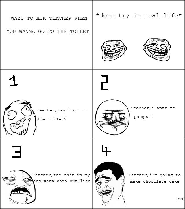 Troll Malaysia on Twitter   Teacher May I go to toilet    http   t co Oz3v9dRqtr. Troll Malaysia on Twitter   Teacher May I go to toilet   http   t