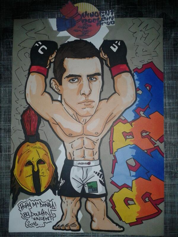 My last drawing for @UFCQuebec @rory_macdonald by a French fan @Vincenthury