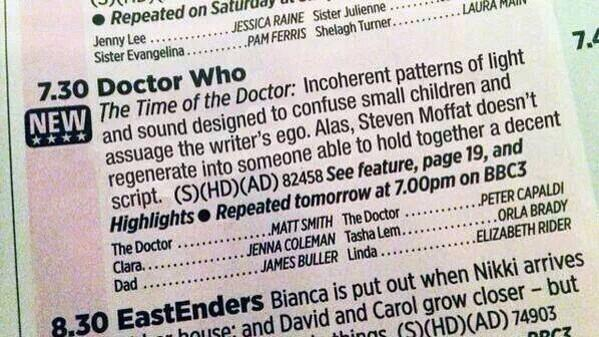 Great synopsis of this week's Doctor Who episode… http://t.co/xTbkFrVauq
