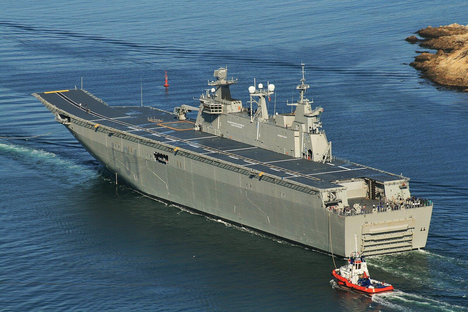 Всё о флоте и судостроении В качестве основного иностранного партнёра скорее всего будет выбрана испанская navantia на счету которой строительство УДК типа juan carlos i для флотов