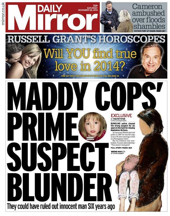 MADDIE COPS PRIME SUSPECT BLUNDER- tomorrows MIRROR 28/12/13 Bcha9fNIUAAohHR