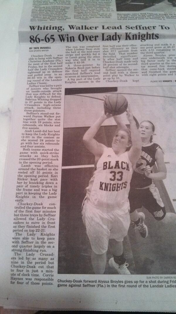 Morning news re SCA @ Ladies Classic. The Greenville Sun, reminds me of the Frankfort (KY) State Journal growing up. http://t.co/vrzYwuyoto