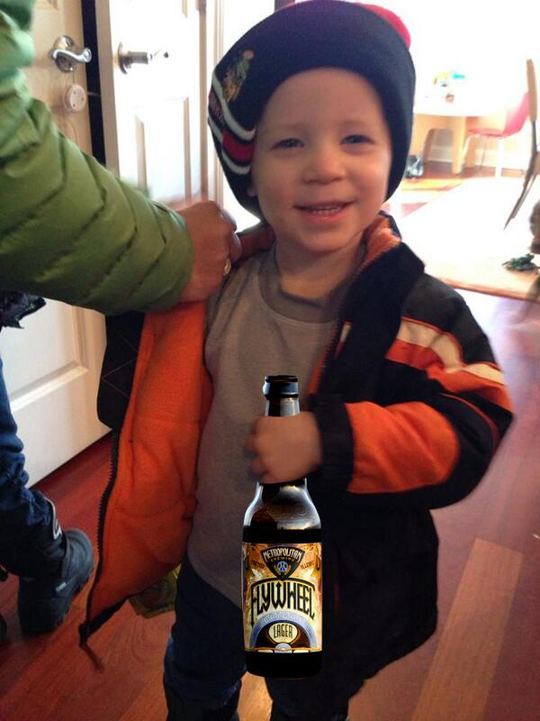 I've decided my new thing is Photoshopping our beer bottles into my friends' kids' hands. http://t.co/z48SuIJsa3