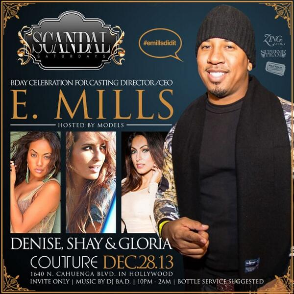 TONIGHT @mremills & @AllAboutRosalyn Birthday Celebration at Couture Hollywood. Early Arrival A Must!!! #emillsdidit  http://t.co/AiwMZy7vxQ