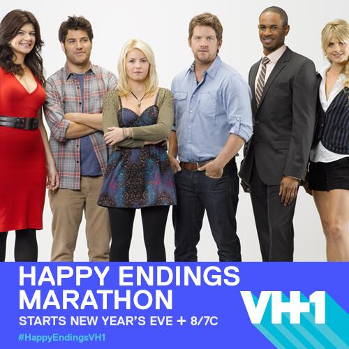 Everything you wanted + MORE! #HappyEndings marathon starts NEW YEARS EVE at 8/7C on @VH1! RETWEET + tell a friend! http://t.co/kR3OH5CzQS