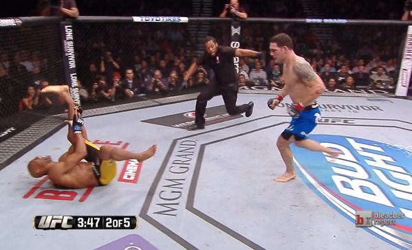 Anderson Silva's Broken Leg