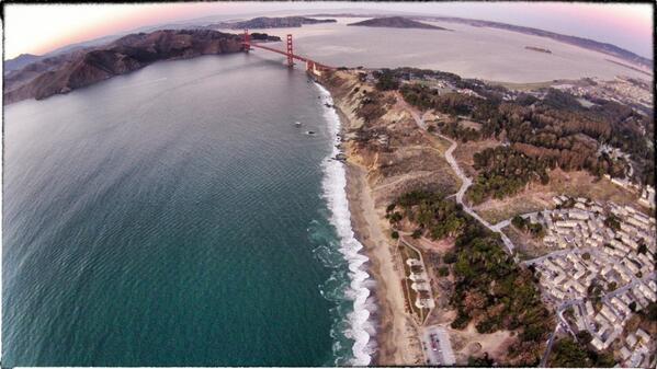 Shot taken from my #drone of #goldengatebridge best birthday gift ever http://t.co/snKQJxp5w3