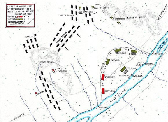Britishbattles on Twitter Map of Battle of Omdurman 1898 Main