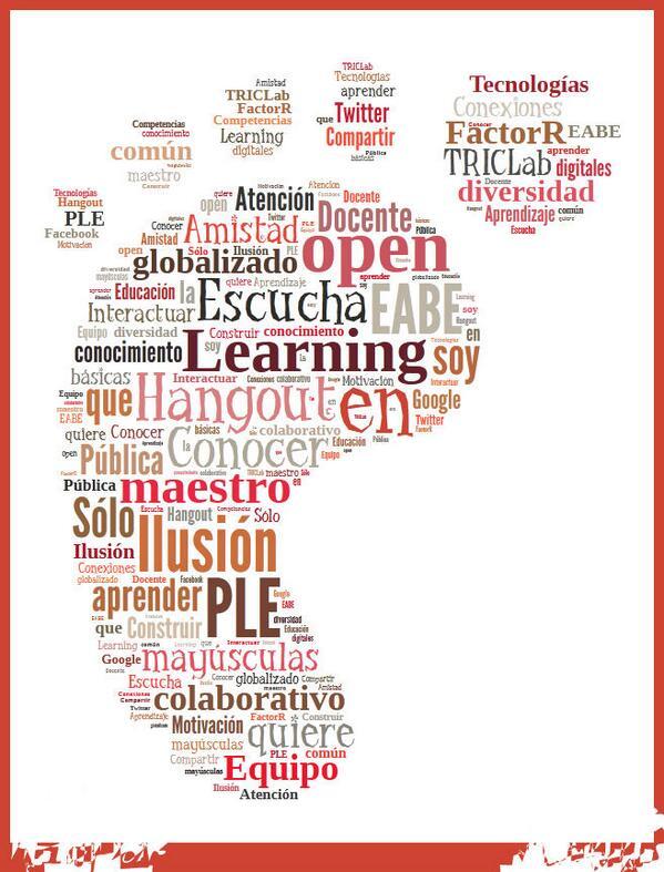 Comenzamos #eduPLEmooc: #minubedeintereses: forma de pie porque creo que comienza un camino para mi. http://t.co/npCxi7xT0Y