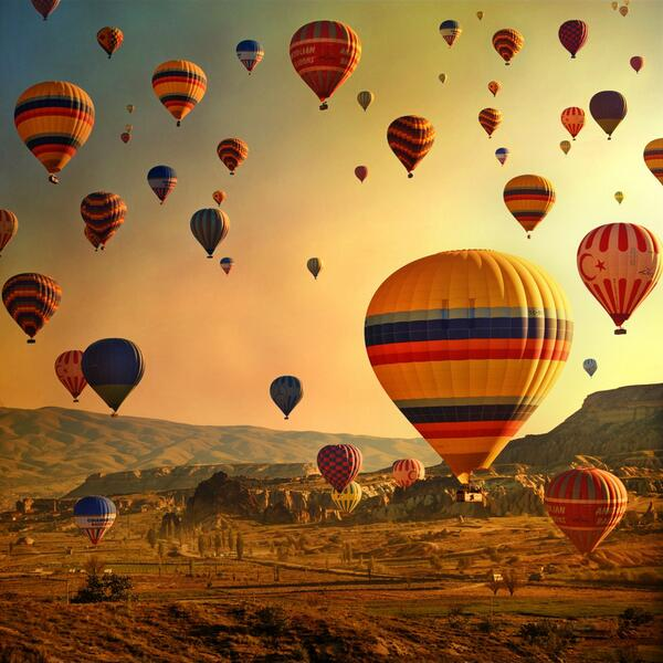 "Beautiful! ""@TourismPlan: RT @cinnamon_carter RT @sbadsgood Hot air balloons in Cappadocia, Turkey. http://t.co/BQljxUAYO5"""