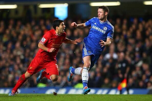 Gary Cahills brilliant tackle on Joe Allen during Chelseas 2 1 win over Liverpool [GIFs]
