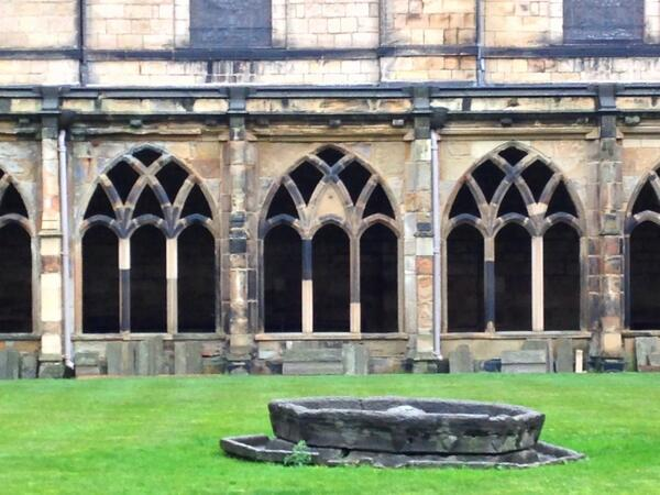 Durham cathedral courtyard