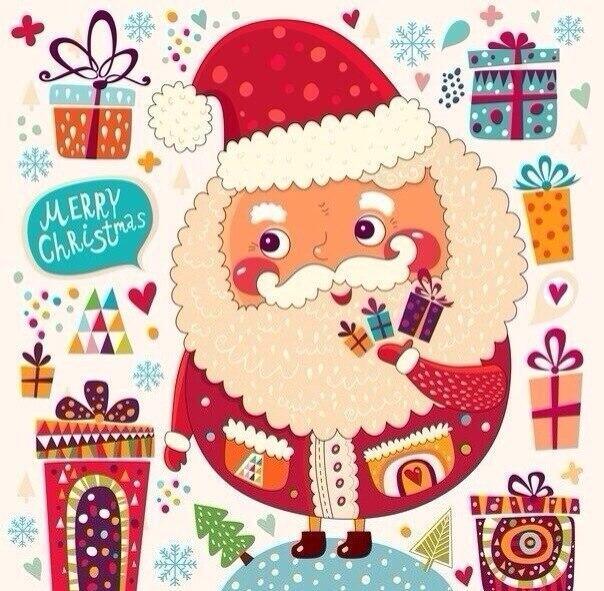 Крутые рисунки для открытки на новый год