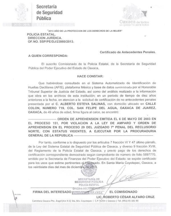 Carta Antecedentes No Penales Df 2016 | delgado ribenack
