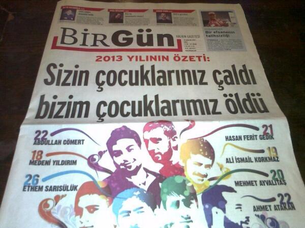 Bugun bir @BirGun_Gazetesi alın. Bu efsane kapağı arşivinizde saklayın! http://t.co/W7l4VP90Zw