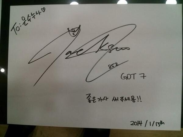 #Got7 다들 이쁘다!!! 특히 잭슨이 좋다고 노래를 불렀더니 @ZZANGHANA 가 서울에서 요런 사진을! 뮤비보는내내 흐뭇한 아빠미소. http://t.co/8U4sAf7Tmm