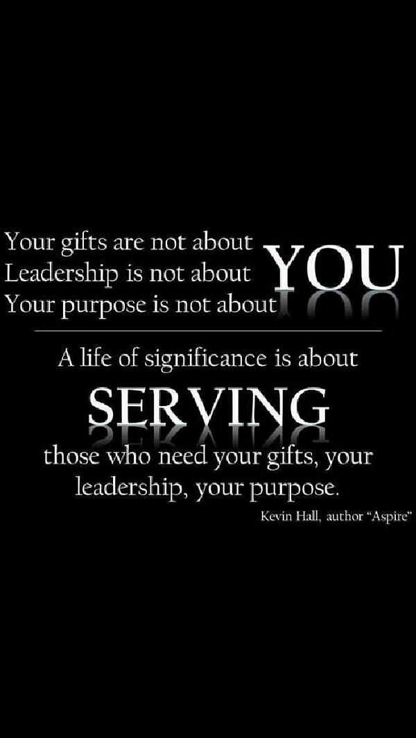 #Leadership isn't about you. Seriously. http://t.co/PUkHVI019N