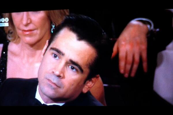 Colin Farell looks so moved when @JaredLeto got his award! Awww ❤️ http://t.co/6Y9HvB2RDU