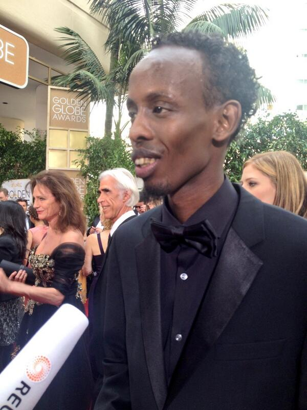 'Captain Phillips' actor Barkhad Abdi rocking all-black everything to the #GoldenGlobes. http://t.co/OkBMYM8H3P