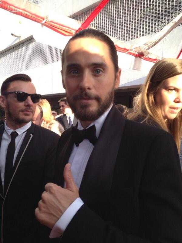 Jared is here!!! RT @goldenglobes: It's @JaredLeto on the @goldenglobes #redcarpet! http://t.co/I1FqyxLprt